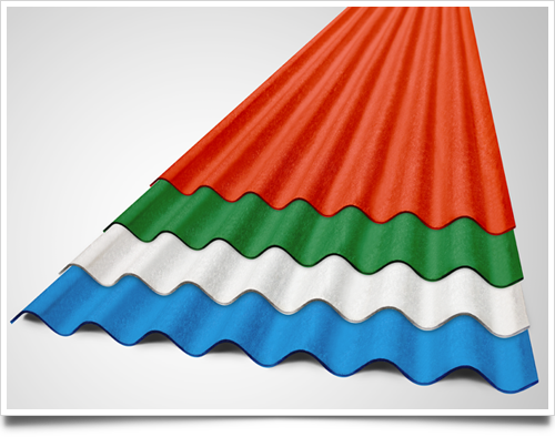 colour coated fiber cement sheets